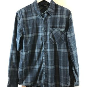 Vans plaid button down shirt size S